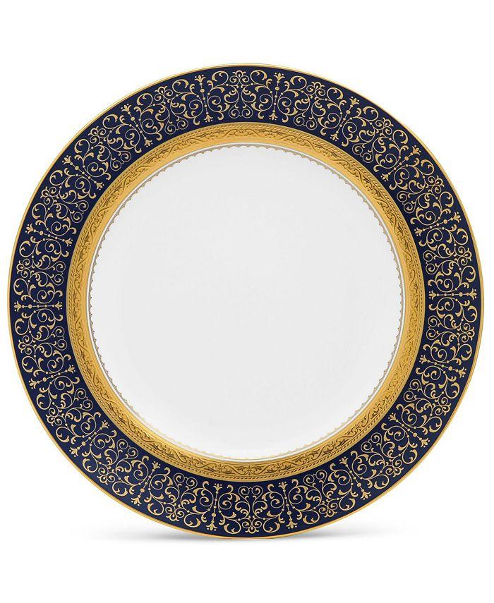 "Noritake - Odessa Cobalt Gold Accent Plate, 9"""