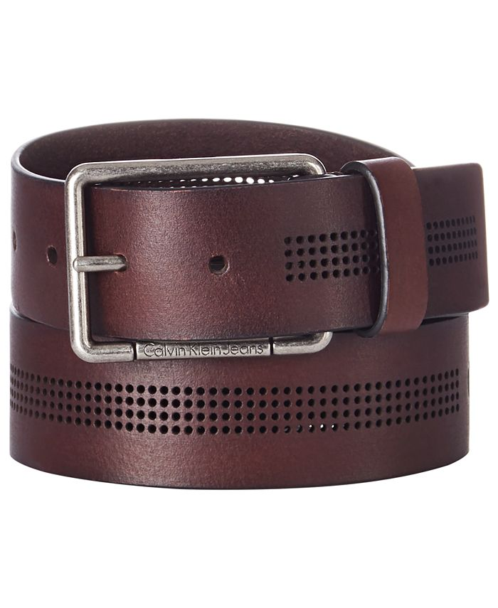 Calvin Klein - Men's Perforated Leather Belt