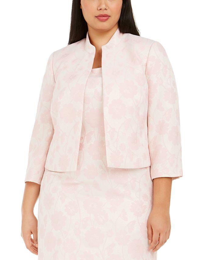 Kasper - Plus Size Jacquard Jacket