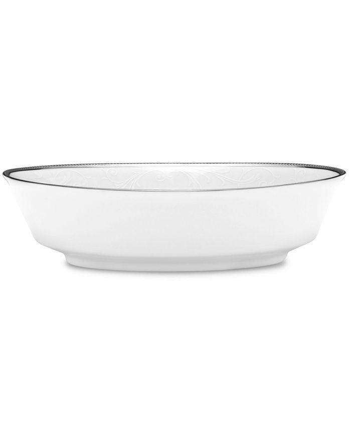 Noritake - Regina Platinum Oval Vegetable Bowl, 32 Oz.