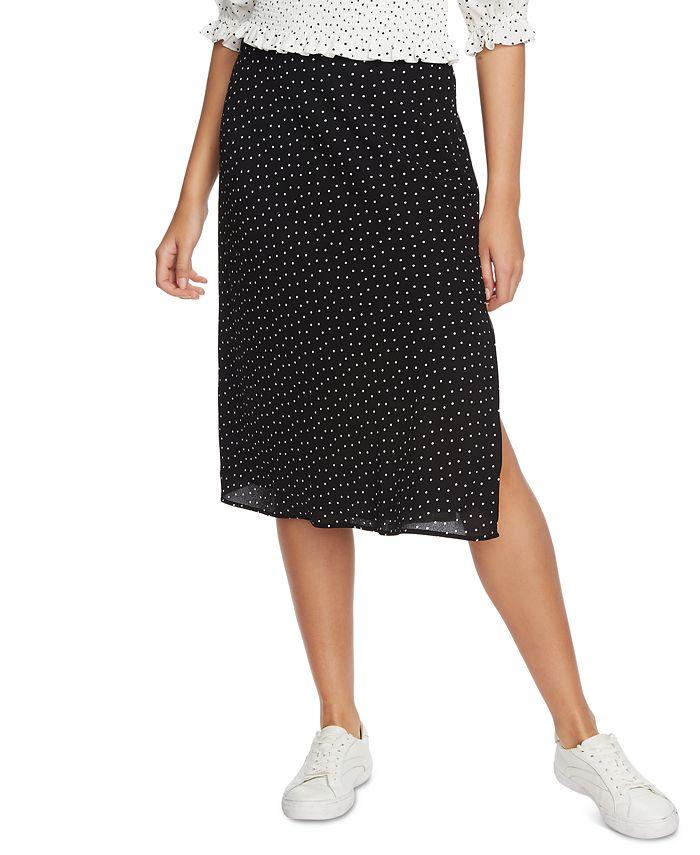 1.STATE - Polka-Dot Midi Skirt