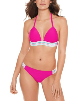 Juniors' Banded Push-Up Halter Bikini Top, Available in D/DD, Created for Macy's