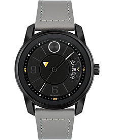 Movado Men's Swiss Bold Gray Leather Strap Watch 42mm, Created for Macy's