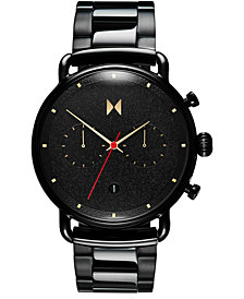 MVMT Men's Chronograph Caviar Black Stainless Steel Bracelet Watch 47mm
