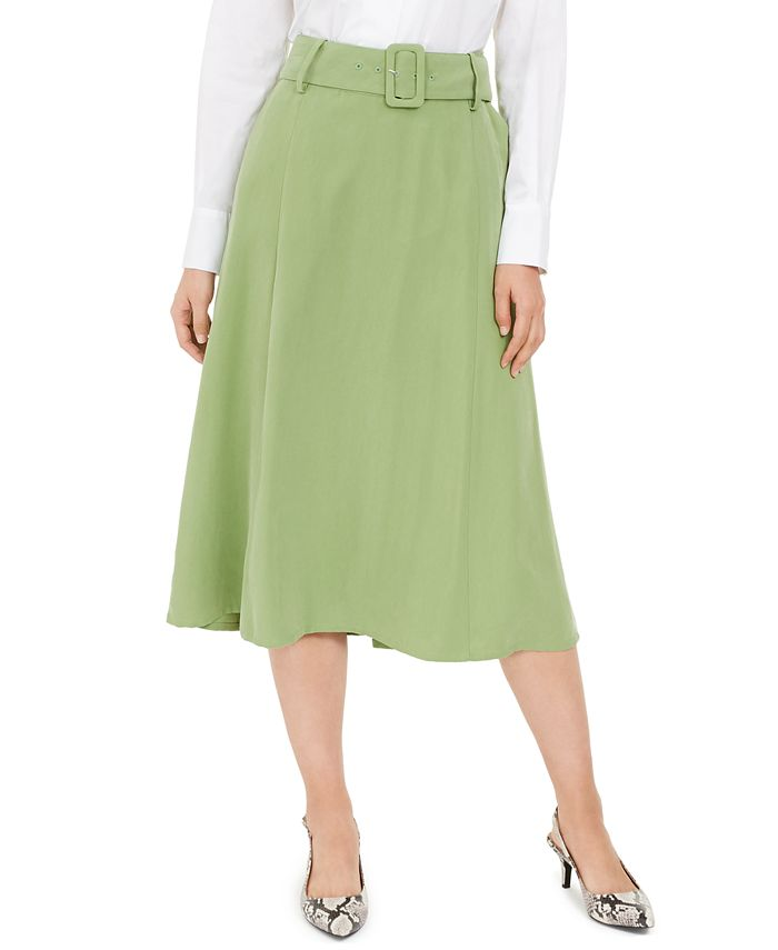Alfani - Belted A-Line Skirt