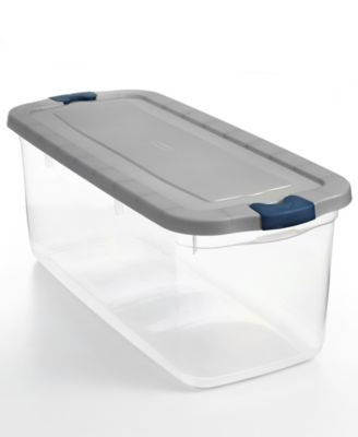 Rubbermaid Roughneck Set of 4 Clear 95-Qt. Storage Tote Boxes with Silver Lids