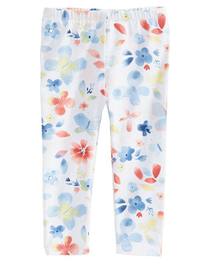 First Impressions - Baby Girls Butterfly-Print Leggings
