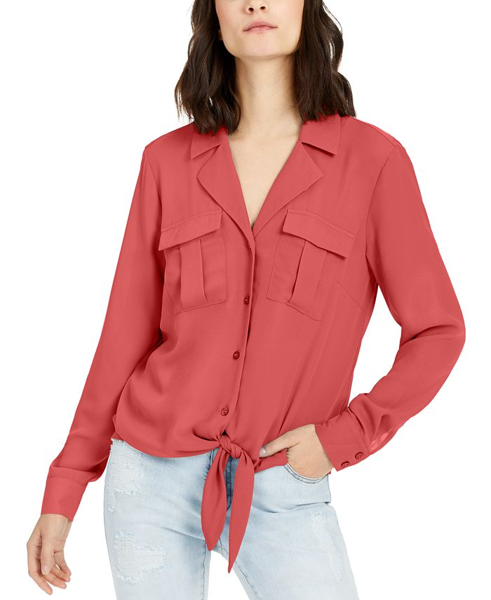 INC International Concepts - Tie-Front Shirt