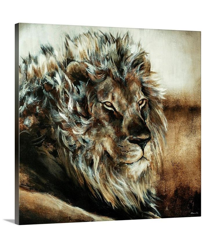 """GreatBigCanvas - 36 in. x 36 in. """"King of the Land"""" by  Sydney Edmunds Canvas Wall Art"""