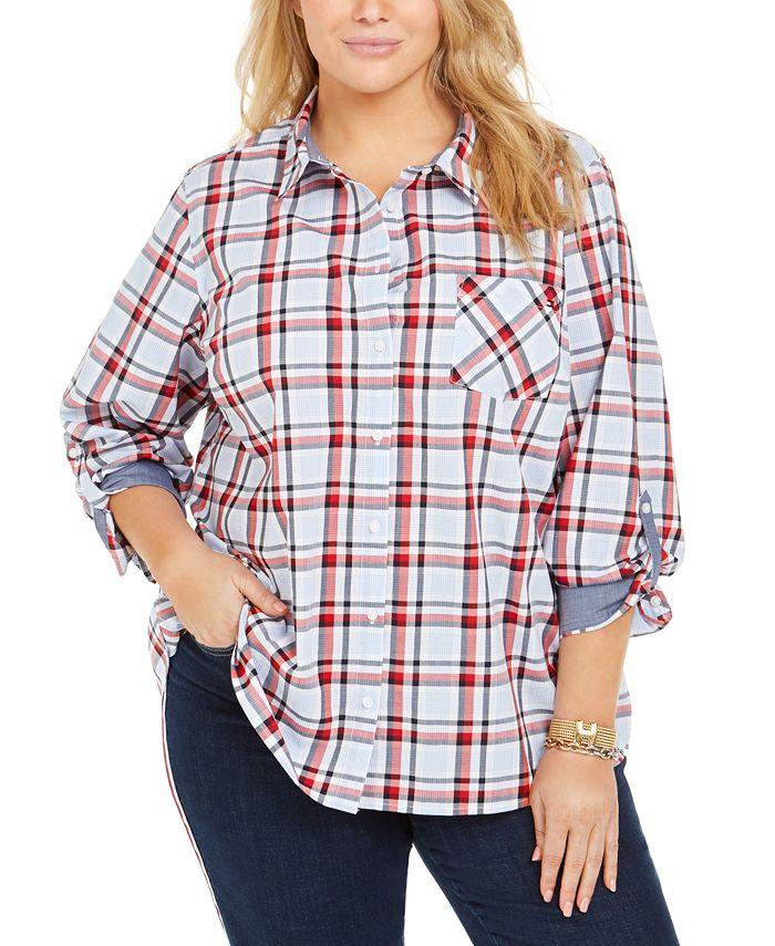 Tommy Hilfiger - Plus Size Cotton Plaid Shirt