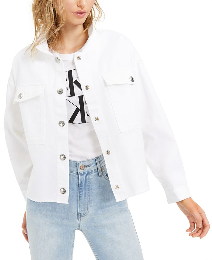 Calvin Klein Jeans - Drop-Shoulder Cotton Denim Jacket