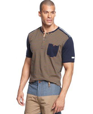 Sean john big tall shirt the fine henley stripe t shirt for Sean john t shirts for mens