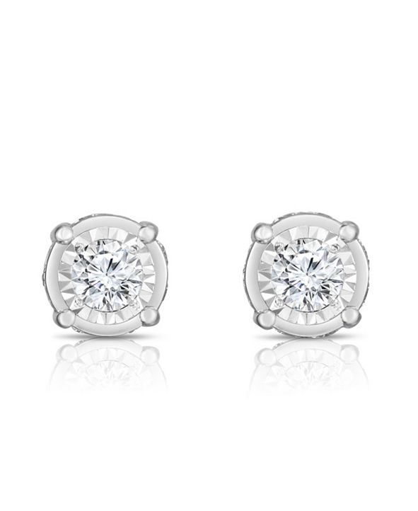 TruMiracle Diamond (1 1/2 ct. t.w.) Stud Earrings in 14k White Gold