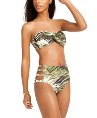 Jungle Moon Printed Twist Bandeau Bikini Top, Created for Macy's