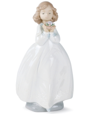 Nao by Lladro Collectible Figurine, Flower Girl