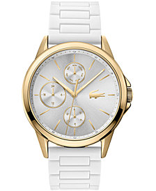 Lacoste Women's Swiss Florence White Silicone Strap Watch 40mm