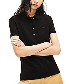 Lacoste Women's Slim-Fit Short-Sleeve Stretch Piqué Polo Shirt