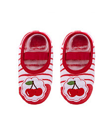 Nwalks Baby Boys and Girls Anti-Slip Cotton Socks with Cherries Applique
