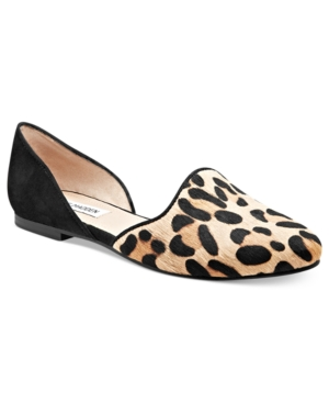 Steve Madden Womens Shoes Vamp FauxFur Flats Womens Shoes