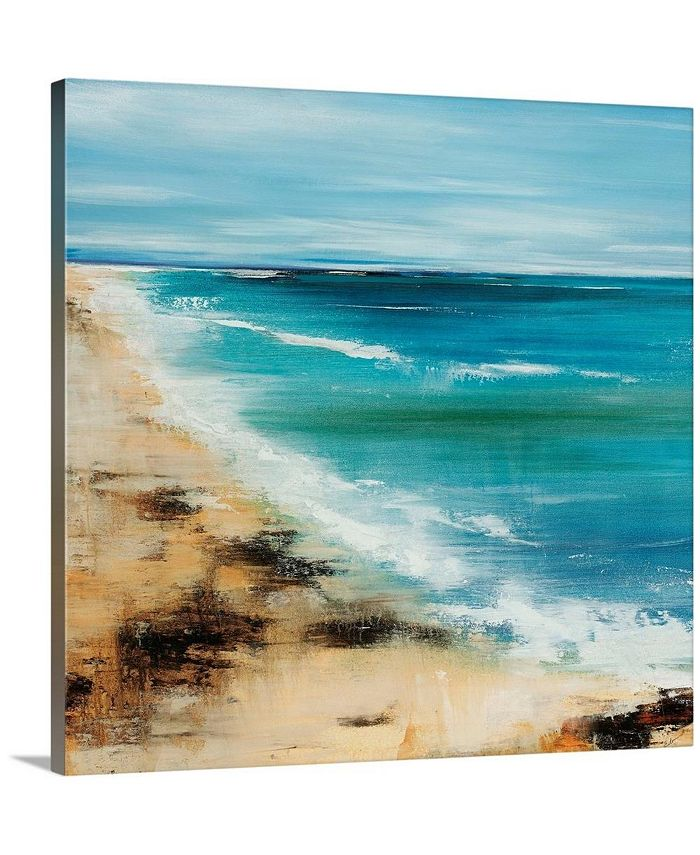 "GreatBigCanvas - 36 in. x 36 in. ""Coastal Breeze"" by  Sydney Edmunds Canvas Wall Art"