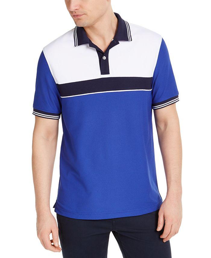 Club Room - Men's Sporty Stripe Polo Shirt