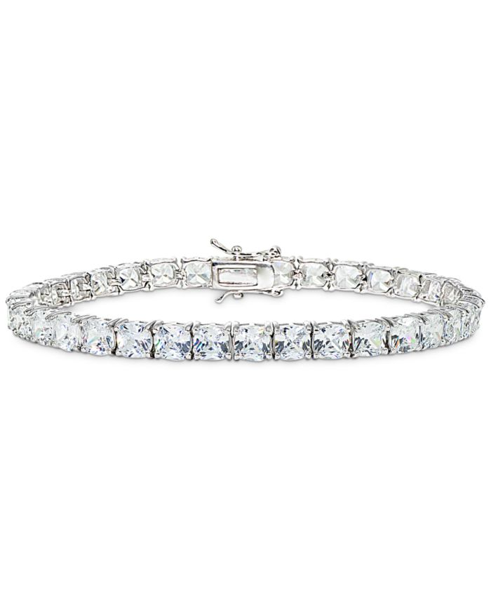 Macy's Cubic Zirconia Tennis Bracelet in Sterling Silver & Reviews - Bracelets - Jewelry & Watches - Macy's