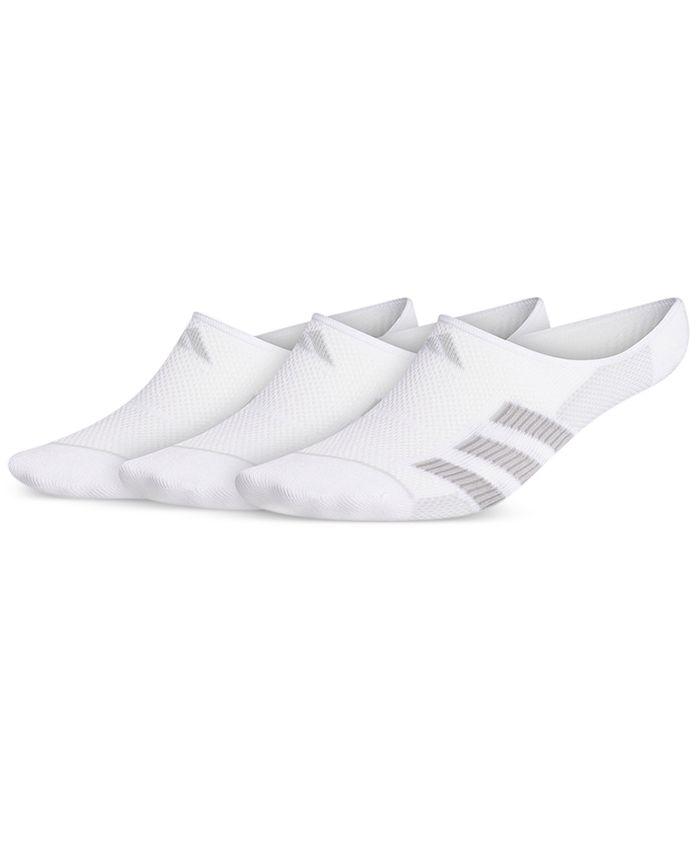 adidas - Men's 3-Pk. Superlite 3-Stripe No-Show Socks