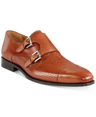 Rocky Texture Double Monk-Strap Shoes