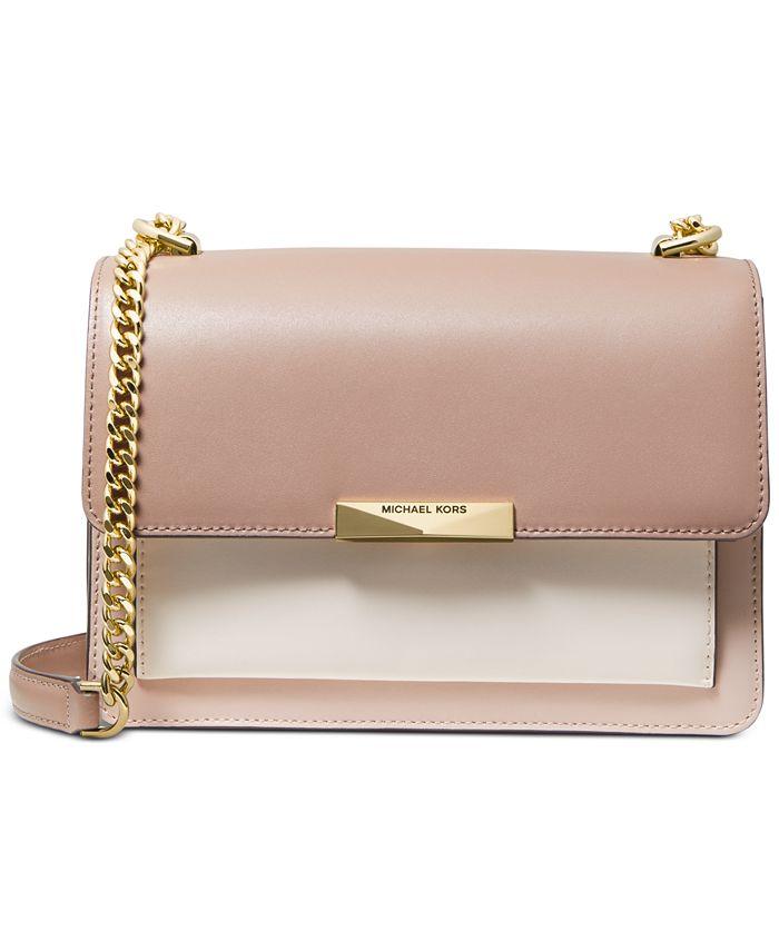 Michael Kors - Jade Large Gusset Leather Shoulder Bag