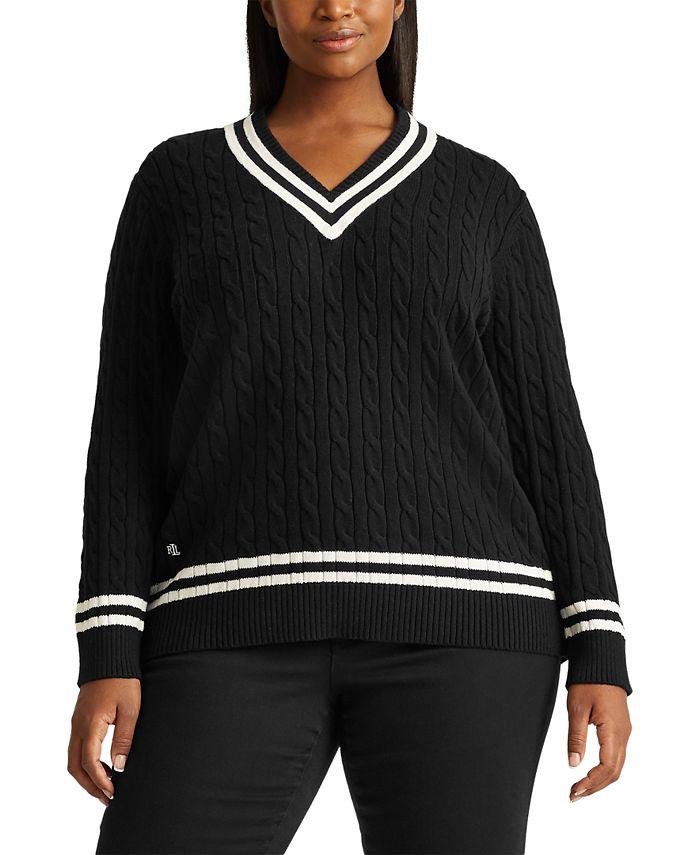 Lauren Ralph Lauren - Plus-Size Cotton Cricket Sweater