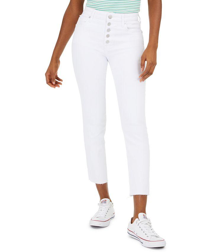 GREENE ST. DENIM - Button-Fly Straight-Leg Jeans