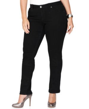INC International Concepts Plus Size Jeans, Skinny, Black Wash