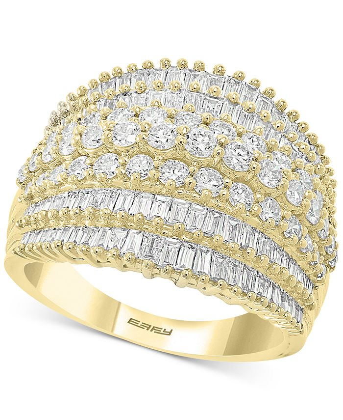 EFFY Collection - Diamond Baguette Multi-Row Statement Ring (1-7/8 ct. t.w.) in 14k Gold