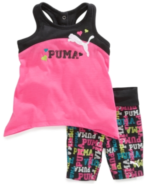 Puma Baby Set Baby Girls 2Piece HighLow Tank and Printed Shorts