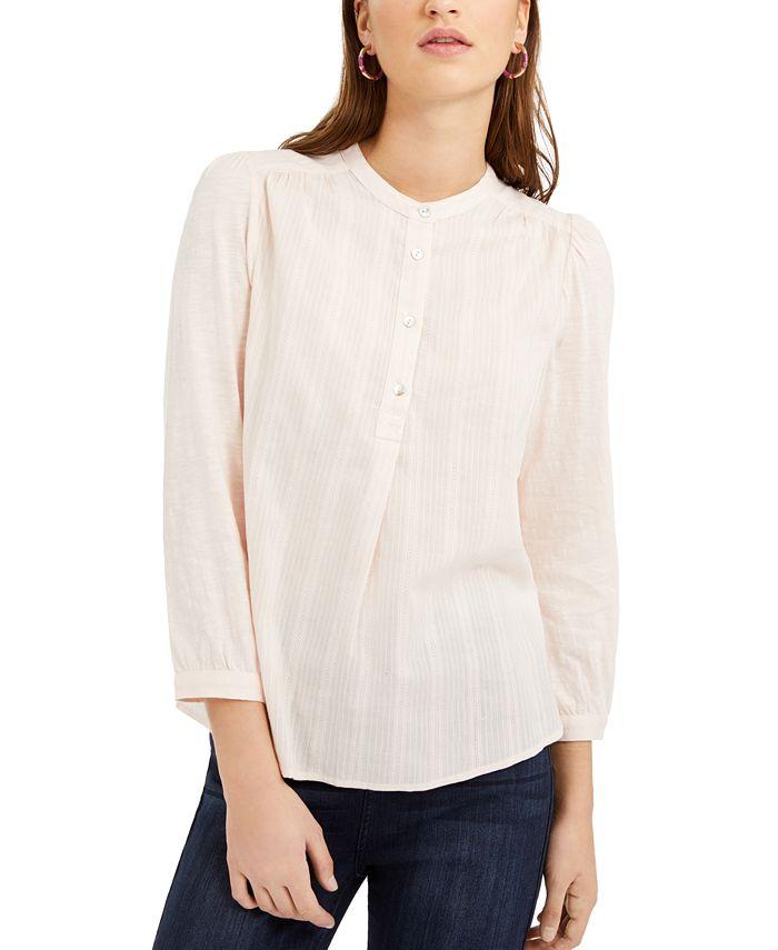 Lucky Brand - Cotton Woven Button-Down Shirt