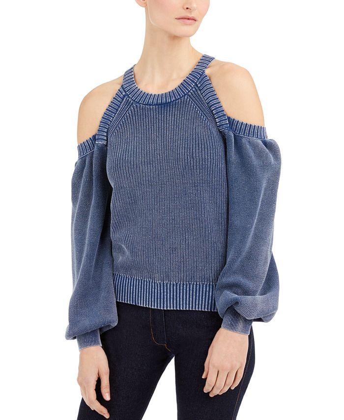 INC International Concepts - Cold-Shoulder Sweater