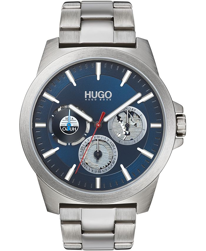 HUGO - Men's Chronograph #TWIST Stainless Steel Bracelet Watch 44mm