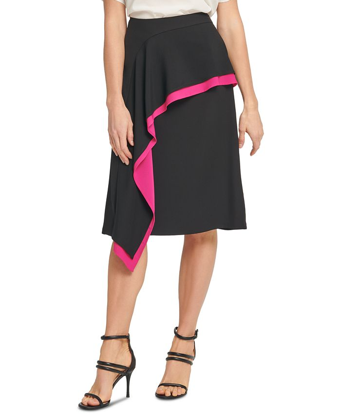 DKNY - Asymmetrical Ruffled Skirt