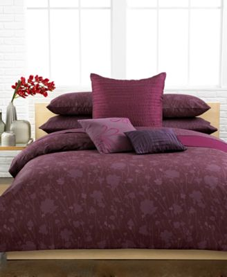 Calvin klein elm comforter and duvet cover sets bedding for Calvin klein jardin collection