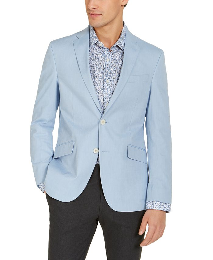 Unlisted - Men's Slim-Fit Stretch Chambray Sport Coat