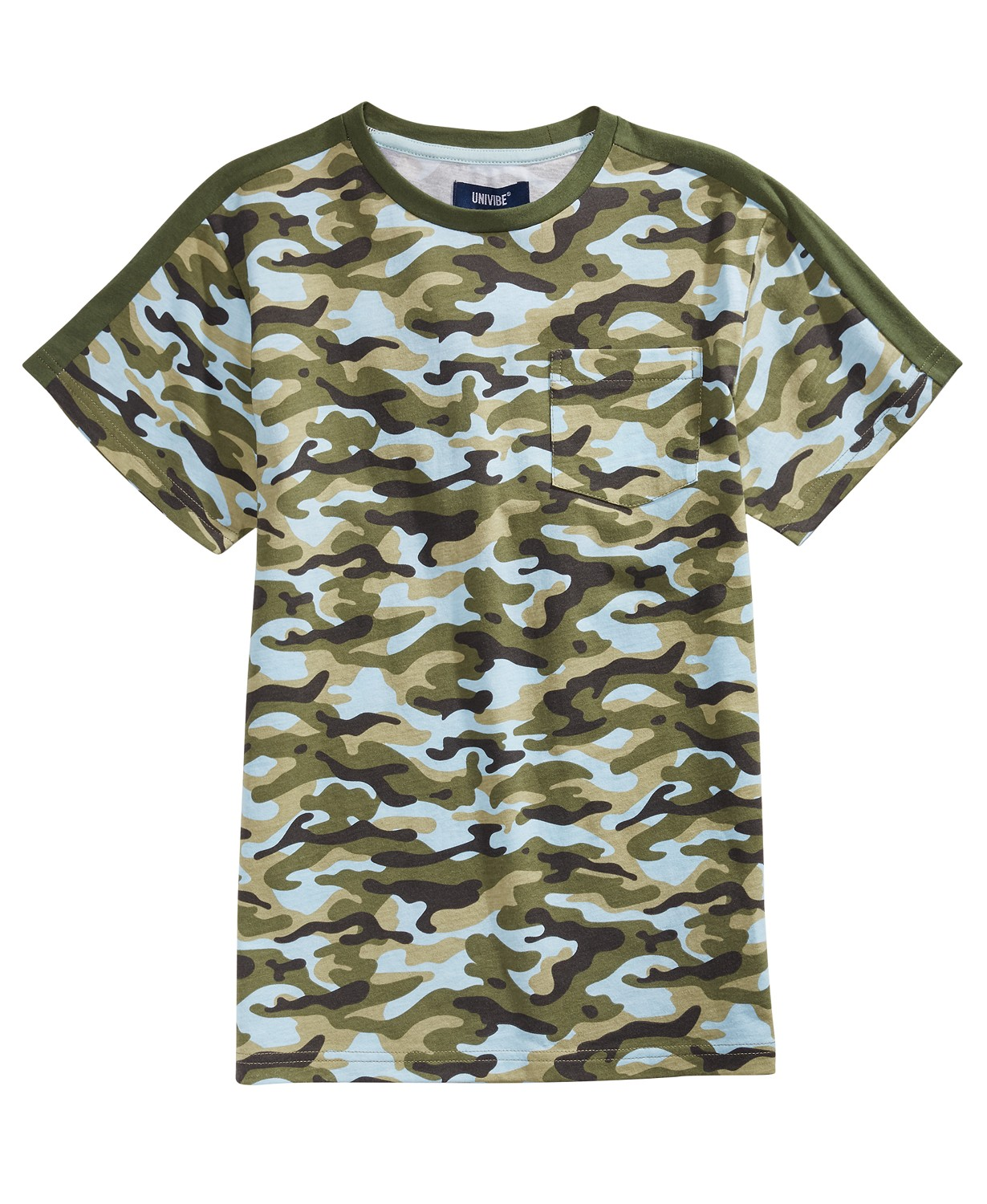 Univibe Big Boys Retreat Camo-Print T-Shirt