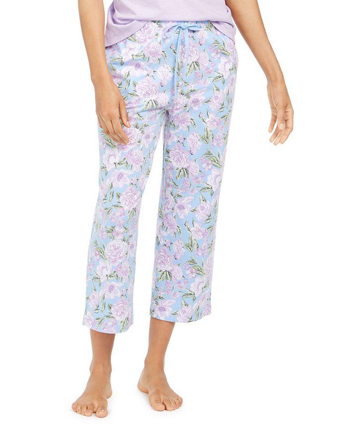 Charter Club - Cotton Printed Cropped Pajama Pants