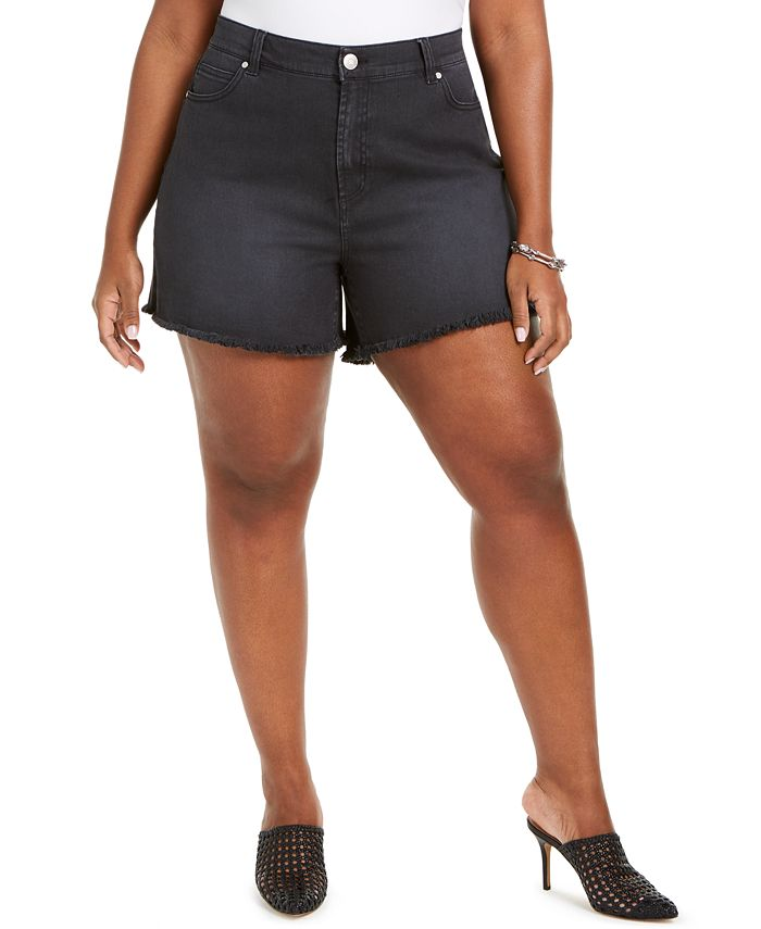 Celebrity Pink - Pink Trendy Plus Size Frayed Shorts