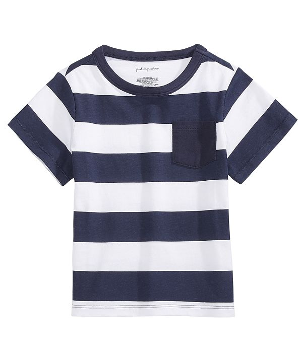 First Impressions Baby Boys Rugby Stripe Cotton T-Shirt, Created for Macy's