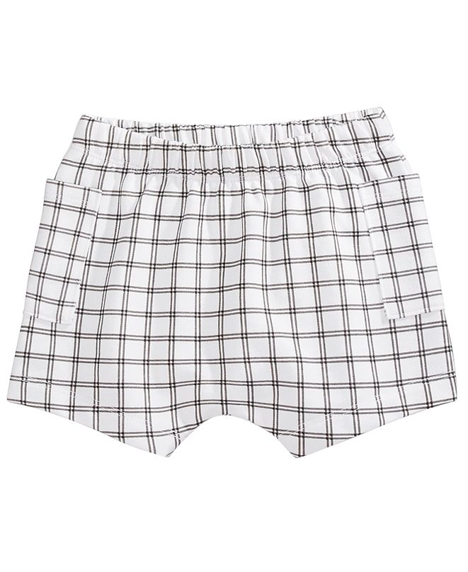 First Impressions Baby Boys Windowpane Plaid Shorts, Created for Macy's