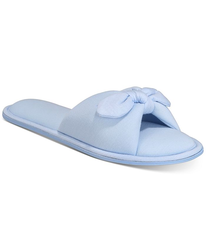 Charter Club - Open-Toe Knot Slippers
