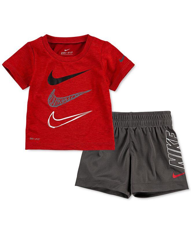 Nike Baby Boys Dri-FIT T-Shirt and Shorts 2-Piece Set