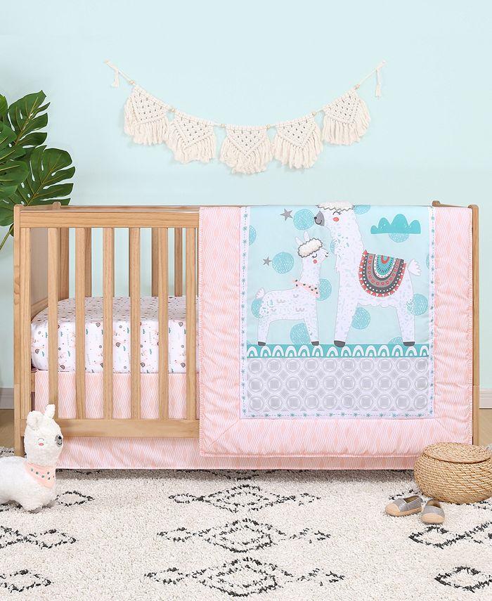 The Peanutshell - PS by  Llama Love 3-Piece Crib Bedding Set