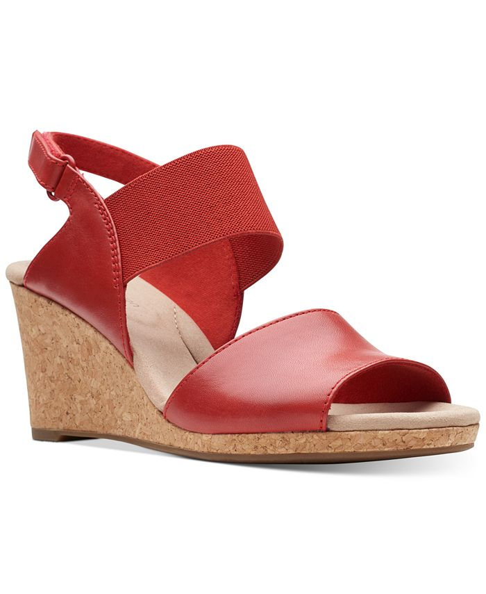 Clarks - Women's Laffely Lily Wedge Sandals