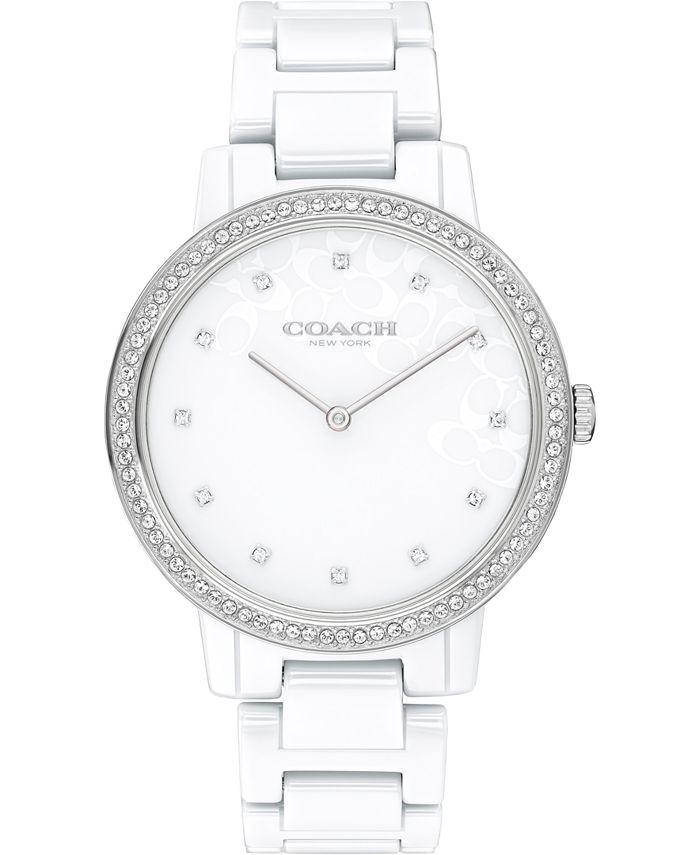 COACH - Women's Audrey White Ceramic Bracelet Watch 35mm